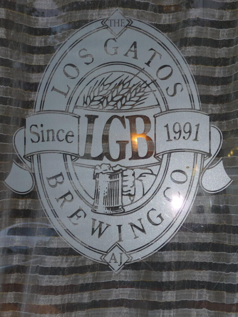 San Jose restaurant sign los gatos brewing company windows