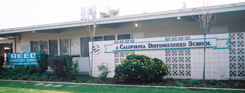 San Jose school signs reed elementary california distinguished