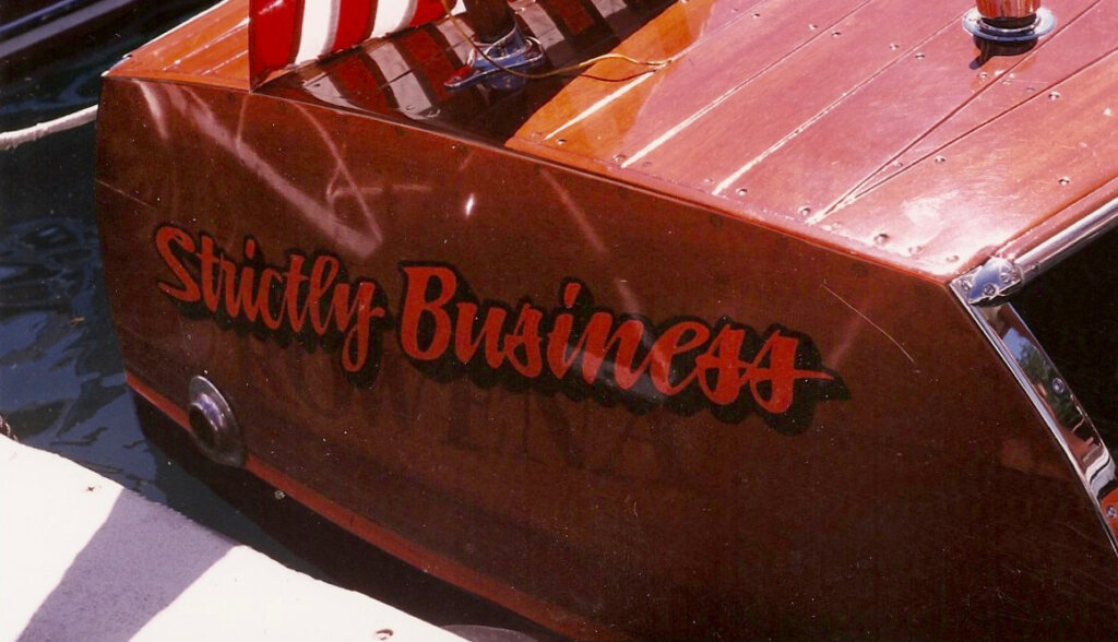 custom boat transom strictly business california