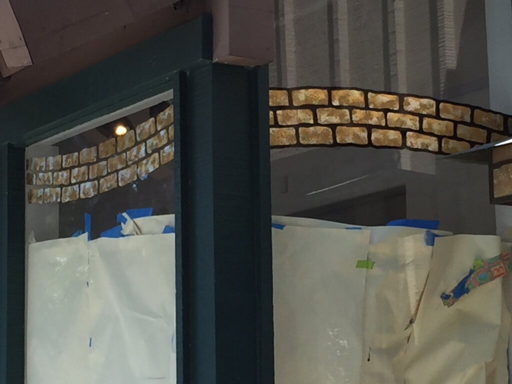 Los Gatos signs gold leafing yellow brick road jewelers old window
